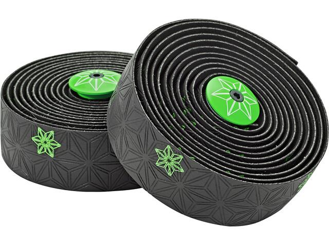 Supacaz Super Sticky Kush Galaxy Handlebar Tape, neon green print